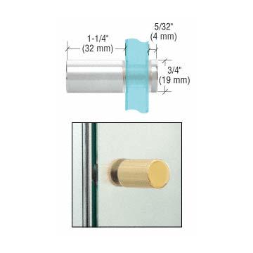 Cylinder-style Single-sided Chrome Shower Door Knob