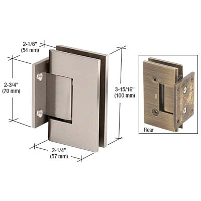 Large Square Short-plate Wall Hinge Brushed Nickle