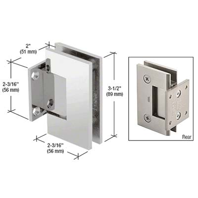 Square Short-plate Chrome Wall Hinge