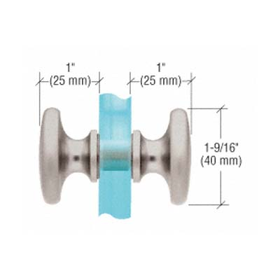 Traditional-style Brushed Nickle Shower Door Knob